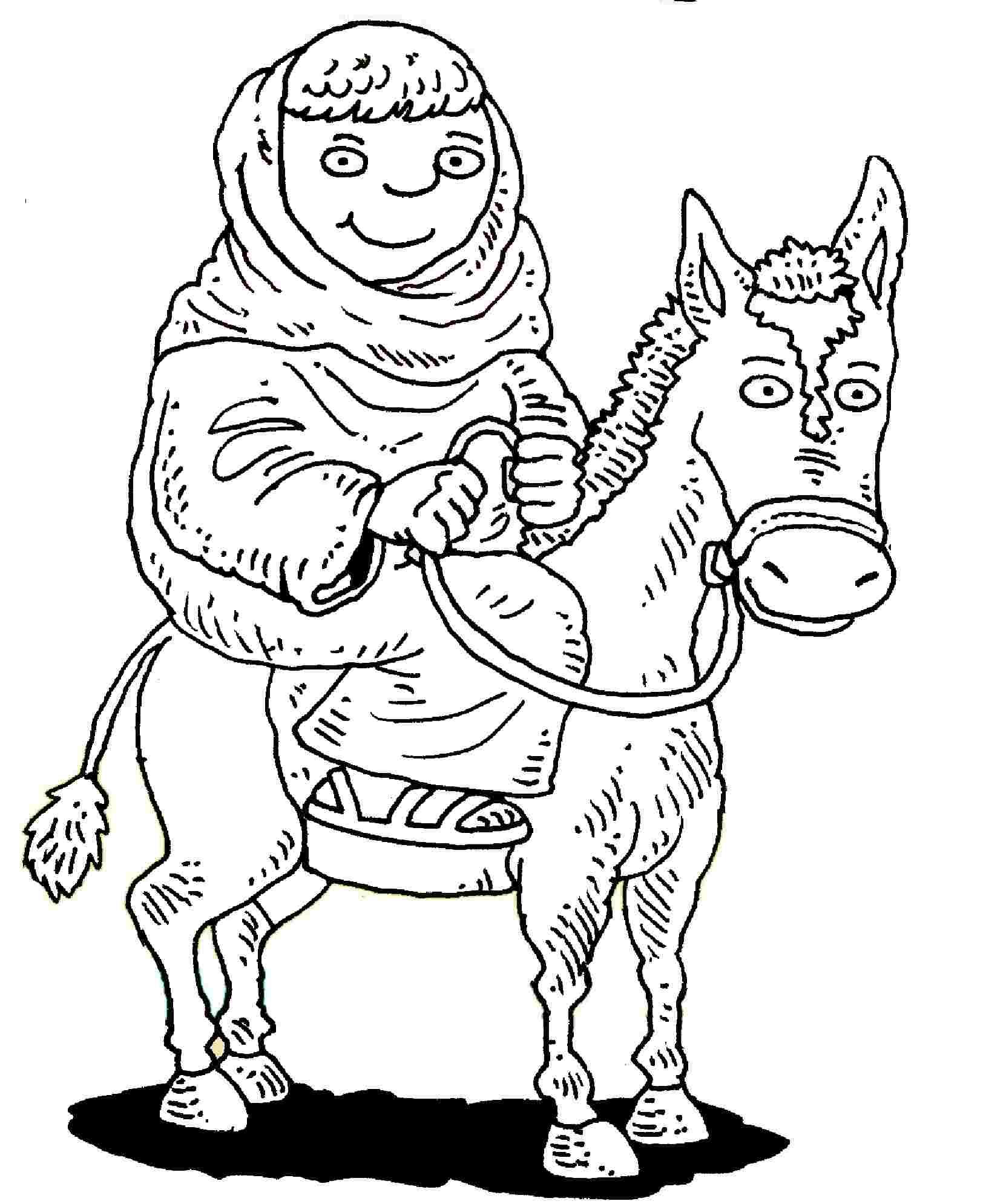 Donkey & Mary B&w