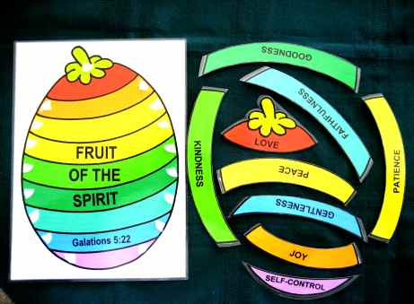 fruit of the spirit crafts one page bible stories 6607